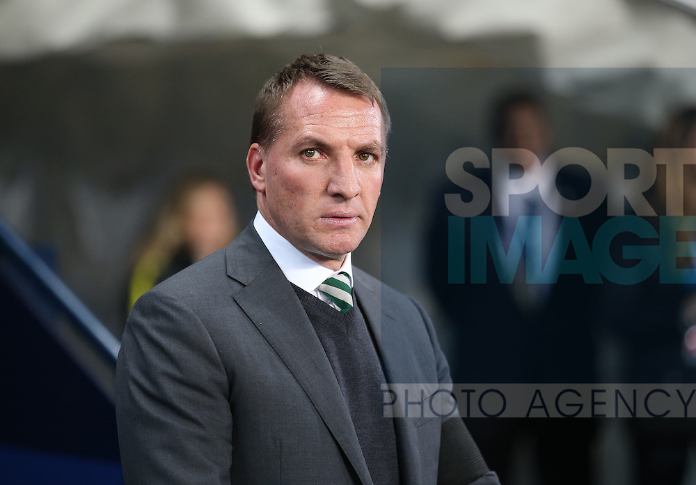 Brendan Rogers manager of Celtic during the Champions League Group C match at the Etihad Stadium, Manchester. Picture date: December 6th, 2016. Pic Simon Bellis/Sportimage