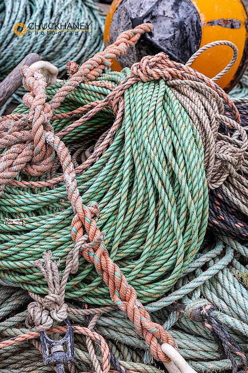 Lobster rope in Bernard, Maine, USA