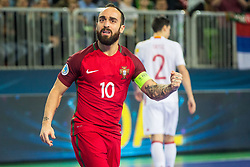 Ricardinho of Portugal celebrate during futsal match between Spain and Portugal in Final match of UEFA Futsal EURO 2018, on February 10, 2018 in Arena Stozice, Ljubljana, Slovenia. Photo by Ziga Zupan / Sportida