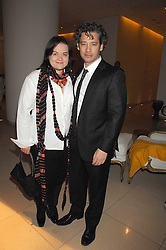 DEXTER FLETCHER and DALIA IBELHAUPTAITE at 'Not Another Burns Night' in association with CLIC Sargebt and Children's Hospice Association Scotland held at ST.Martins Lane Hotel, London on 3rd March 2008.<br />