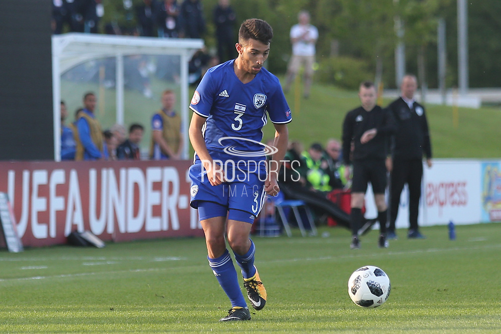 Hanan Hen Biton of Israel (3) about to cross the ball during the UEFA European Under 17 Championship 2018 match between Israel and Italy at St George's Park National Football Centre, Burton-Upon-Trent, United Kingdom on 10 May 2018. Picture by Mick Haynes.