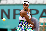 Paris, France. May 28th 2009. .Roland Garros - Tennis French Open. 2nd Round..American player Venus Williams against Lucie Safarova