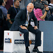 Fenerbahce Ulker's coach Neven SPAHIJA during their Turkish Basketball league Play Off Final Sixth leg match Galatasaray between Fenerbahce Ulker at the Abdi Ipekci Arena in Istanbul Turkey on Friday 17 June 2011. Photo by TURKPIX