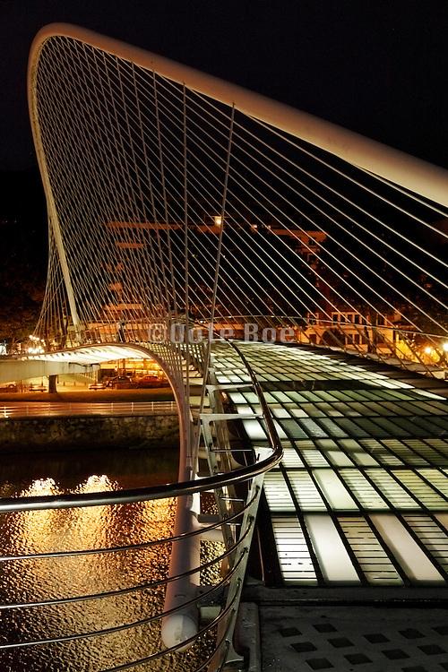 Zubizuri or White footbridge Bilbao by Santiago Calatrava