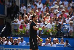 June 23, 2017 - London, United Kingdom - Grigor Dimitrov of Bulgaria plays the quarter finals of AEGON Championships at Queen's Club, London, on June 23, 2017. (Credit Image: © Alberto Pezzali/NurPhoto via ZUMA Press)