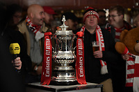 Football - 2019 / 2020 Emirates FA Cup - Second Round: Kingstonian vs. AFC Fylde<br /> <br /> The FA Cup on display in the Kingstonians Clubhouse, at King George's Field, Tolworth.<br /> <br /> COLORSPORT/ASHLEY WESTERN