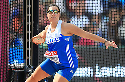Greece's Hrisoula Anagnostopoulou competes in the Women's Discus Throw Qualifying during day eight of the 2017 IAAF World Championships at the London Stadium
