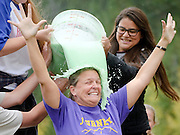 Journeys School teacher Betsy Trobridge is one of three educators covered in slime Tuesday by students who earned the privilege by organizing a high level of participation in Old Bill's Fun Run. For a story on the event see this week's Jackson Hole News&Guide.