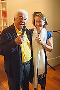 ANTONIO CARLUCCIO; SABINA STEVENSON, Launch party for the publication of Antonio Carluccio's memoirs, A Recipe for Life, . Carluccio's in Covent Garden Garrick St. London.  26 September 2012