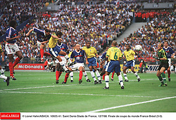 ©Lionel Hahn/ABACA.10925.41.Paris-France,12/07/ 1998. France made soccer history here on Sunday night, when the underdogs beat defending champions Brazil 3-0 to win the last World Cup this century before a delirious crowd of 80,000 people.