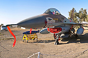 Israeli Air Force F-16A Fighter jet (Netz) on the ground