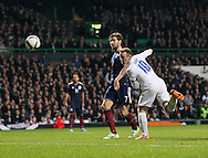 England's Wayne Rooney scoring his sides second goal<br /> <br /> - International Friendly - Scotland vs England- Celtic Park - Glasgow - Scotland - 18th November 2014  - Picture David Klein/Sportimage