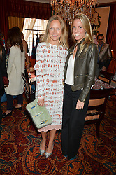 Left to right, MARTHA WARD and CAROLINA BONFIGLIO at a lunch hosted by Mary Katranzou to celebrate her LFW AW 2016 collection at Mark's Club, London on 23rd February 2016.