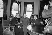 Doctor Ramsey, Archbishop of Canterbury, visits Maynooth College with Doctor Simms, Archbishop of Dublin.<br /> 25.06.1967
