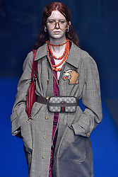 Model Charlotte Stevens walks on the runway during the Gucci Fashion Show during Milan Fashion Week Spring Summer 2018 held in Milan, Italy on September 20, 2017. (Photo by Jonas Gustavsson/Sipa USA)
