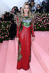 """Saoirse Ronan at the 2019 Costume Institute Benefit Gala celebrating the opening of """"Camp: Notes on Fashion"""".<br />(The Metropolitan Museum of Art, NYC)"""