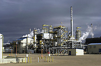 Husky Oil refinery, Lloydminster, Alberta<br />    Photo: Peter Llewellyn