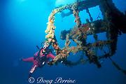 crows nest of the wreck of the Eagle, Islamorada, Florida Keys, Florida Keys National Marine Sanctuary ( Western Atlantic Ocean )    MR 113