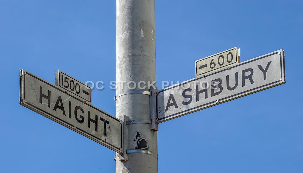 Haight Ashbury Street Intersection Sign