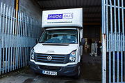 The Inside Out van used to deliver materials. Volunteers from Longton Community Church working to improve the lives of those in need in their local community, Leyland, Lancashire.UK