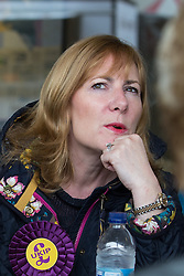 """© Licensed to London News Pictures . FILE PICTURE DATED 04/06/2014 of UKIP MEP for the South East , JANICE ATKINSON , in Newark . Today ( Thursday 19th March 2015 ) UKIP have suspended MEP Janice Atkinson and removed her as a candidate for the seat of Folkstone and Hythe in the upcoming UK election """" following allegations of a serious financial nature """". Photo credit : Joel Goodman/LNP"""