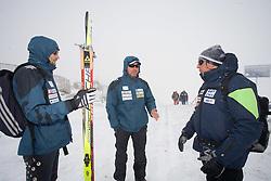 Matej Oblak, Borut Nunar and Vinko Poklukar of Slovenian Men Biathlon Team at Dachstein glacier before new season 2008/2009, Austria, on October 30, 2008.  (Photo by Vid Ponikvar / Sportida)