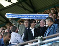 Photo: Lee Earle.<br /> Portsmouth v Sunderland. The Barclays Premiership. 22/04/2006. A Portsmouth fan praises their manager Harry Redknapp.