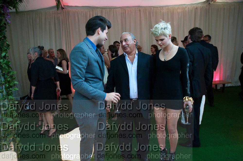 Mark Ronson; Philip Green; Pixie Geldof. Glamour magazine Women of the Year Awards. Berkeley Square. London. 2 June 2009
