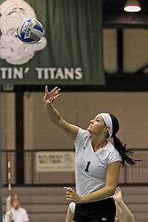 21 September 2013:  Morgan Howard during an NCAA women's division 3 Volleyball match between the Lincoln Christian University Lady Lynx and the Illinois Wesleyan  University Titans in Shirk Center, Bloomington IL