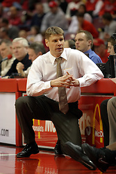 08 January 06  Coach Porter Moser....The Illinois State Redbirds come up short against the Witchita State Shockers.  The Shockers put on a 2nd half show that left the Redbirds trailing 56 - 47 at the bell.  Dana Ford of the Redbirds matched his career high with 16 points, adding 7 boards and 4 steals.....Redbird Arena, Illinois State University  campus, Normal, Illinois