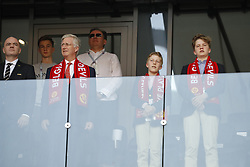 President of FIFA Gianni Infantino with Belgium's King Philippe and his two sons Gabriel and Emmanuel during the 2018 FIFA World Cup Russia game, Belgium in vs Tunisia in Spartak Stadium, Moscow, Russia on June 23, 2018. Belgium won 5-2. Photo by Henri Szwarc/ABACAPRESS.COM
