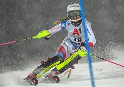 08.01.2019, Hermann Maier Weltcupstrecke, Flachau, AUT, FIS Weltcup Ski Alpin, Slalom, Damen, 1. Lauf, im Bild Aline Danioth (SUI) // Aline Danioth of Switzerland in action during her 1st run of ladie's Slalom of FIS ski alpine world cup at the Hermann Maier Weltcupstrecke in Flachau, Austria on 2019/01/08. EXPA Pictures © 2019, PhotoCredit: EXPA/ Erich Spiess
