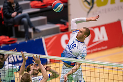 Dennis Borst of Lycurgus in action during the league match between Active Living Orion vs. Amysoft Lycurgus on March 20, 2021 in Doetinchem.
