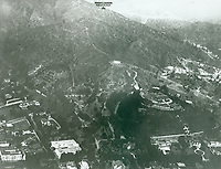Aerial of the Bernheimer Residence (now Yamashiro Restaurant) and the Hollywood Hills