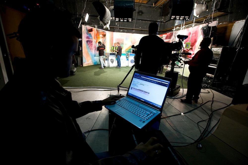 Belo Horizonte_MG, Brasil...Gravacao do programa esportivo Alterosa Esportes...The recording of the sport program  Alterosa Esportes...Foto: LEO DRUMOND / NITRO