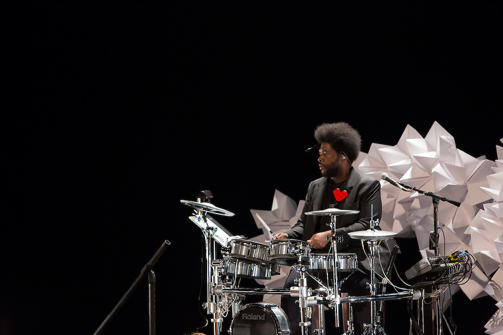 "Ahmir ""Questlove"" Thompson at his drum kit."