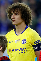 May 15, 2019 - Foxborough, MA, U.S. - FOXBOROUGH, MA - MAY 15: Chelsea FC defender David Luiz (30) before the Final Whistle on Hate match between the New England Revolution and Chelsea Football Club on May 15, 2019, at Gillette Stadium in Foxborough, Massachusetts. (Photo by Fred Kfoury III/Icon Sportswire) (Credit Image: © Fred Kfoury Iii/Icon SMI via ZUMA Press)