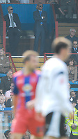 Photo: Alan Crowhurst.<br />Crystal Palace v Derby County. Coca Cola Championship. 29/04/2007. Palace chairman Simon Jordan (R) looks on from the stands.