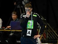 Håndball Menn Oppkjøring til OL-kvalik. Norge - Island<br /> Trondheim Spektrum, Trondheim<br /> 3 april 2016<br /> <br /> <br /> Norges trener Christian Berge er noe oppgitt<br /> <br /> Foto : Arve Johnsen, Digitalsport
