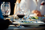 Glasses of wine at the NorthStar Winery Harvest Dinner
