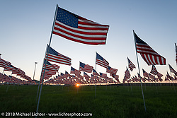 The Buffalo Chip Field of Flags during the 78th annual Sturgis Motorcycle Rally. Sturgis, SD. USA. Saturday August 11, 2018. Photography ©2018 Michael Lichter.