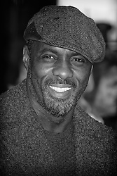 Idris Elba attends the World Premiere of THE GUNMAN on 16/02/2015 at BFI South Bank, London. Idris Elba. Editors Note: This image has been converted to monochrome. EXPA Pictures © 2015, PhotoCredit: EXPA/ Photoshot/ Julie Edwards<br /> <br /> *****ATTENTION - for AUT, SLO, CRO, SRB, BIH, MAZ only*****