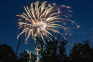 Middletown, N.Y. - Fireflies and fireworks on July 4, 2019.