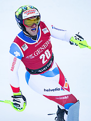 29.12.2016, Deborah Compagnoni Rennstrecke, Santa Caterina, ITA, FIS Ski Weltcup, Santa Caterina, alpine Kombination, Herren, Slalom, im Bild Justin Murisier (SUI) // Justin Murisier of Switzerland reacts after his run of Slalom competition for the men's Alpine combination of FIS Ski Alpine World Cup at the Deborah Compagnoni race course in Santa Caterina, Italy on 2016/12/29. EXPA Pictures © 2016, PhotoCredit: EXPA/ Johann Groder