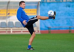 Anton Zlogar of Slovenian National football team at practice a day before the last 2010 FIFA Qualifications match between San Marino and Slovenia, on October 13, 2009, in Olimpico Stadium, Serravalle, San Marino.  (Photo by Vid Ponikvar / Sportida)