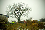 The rural Kyms Catering burger van along the A134 on the 15th January 2010 in Crimplsham in the United Kingdom. During the winter, much of Kym's custom comes from the local sugar beat drivers whilst moving produce along the rural A47.