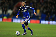 Scott Malone of Cardiff city makes a break.   Skybet football league championship match, Cardiff city v Leeds Utd at the Cardiff city stadium in Cardiff, South Wales on Tuesday 8th March 2016.<br /> pic by Andrew Orchard, Andrew Orchard sports photography.