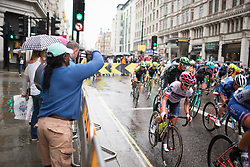Christina Perchtold (AUT) of Cervélo-Bigla Cycling Team accelerates out of a corner in the second lap of the Prudential Ride London Classique - a 66 km road race, starting and finishing in London on July 29, 2017, in London, United Kingdom. (Photo by Balint Hamvas/Velofocus.com)