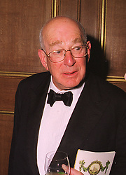 MR LEOPOLD DE ROTHSCHILD patron of the arts, at a dinner in Berkshire on 19th November 1998.MME 118 MORO