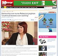 Rebecca Leighton / This Morning / The Mirror 4th December 2011.